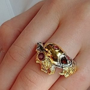 Jewelry - Sterling & Gold-Fish Ring